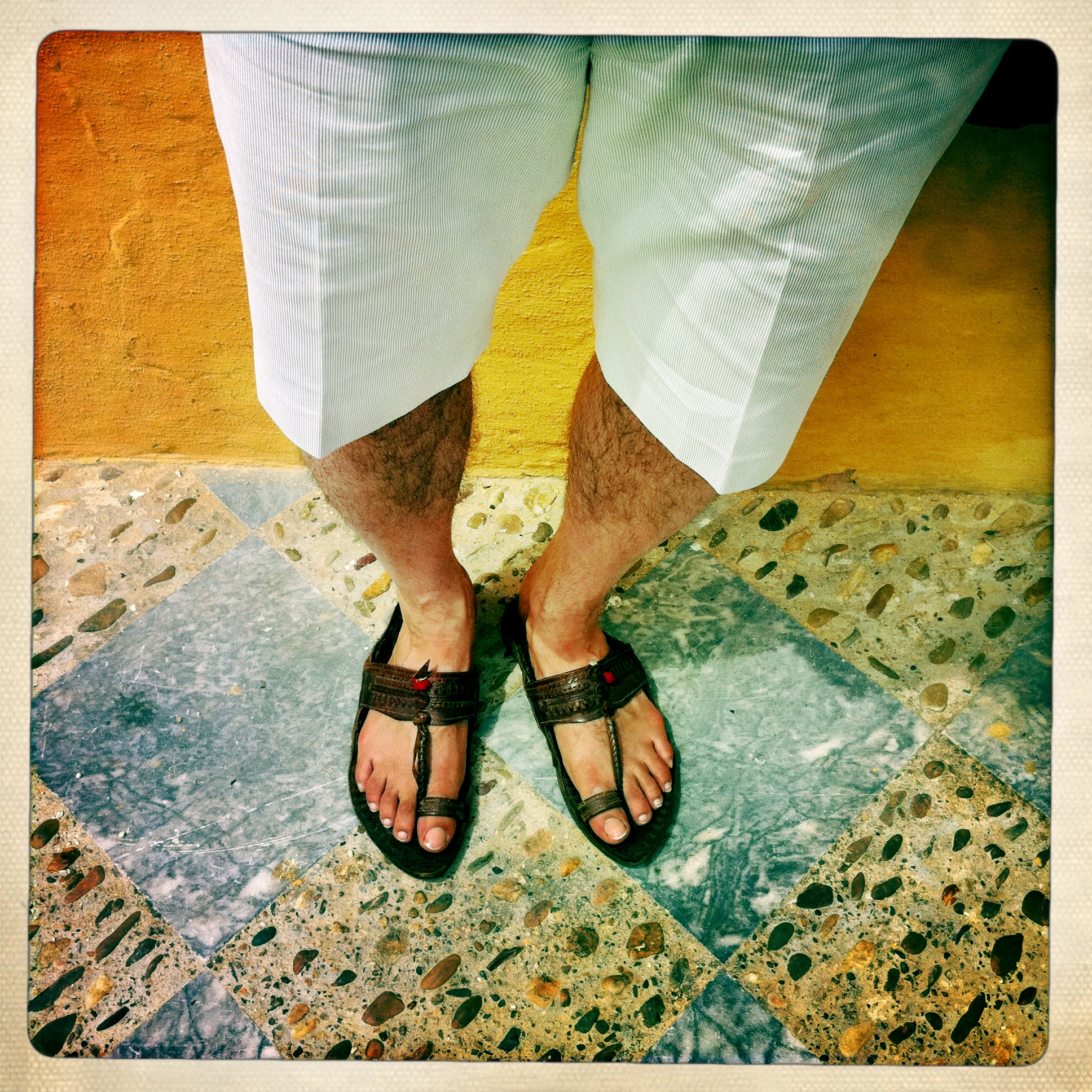 Image result for man wearing chappals